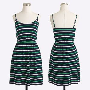 J. Crew NWT Linen-Cotton Striped Cami Dress